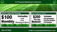 DONT MISS OUR SPECIAL OFFER BASIC LAWN CARE FOR $100 A MONTH