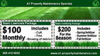 WINTER IS ALMOST OVER BOOK YOUR FERTILIZING OR GRASS CUTTING