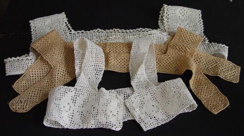 3 Vintage Crocheted Collars / Yoke  #24