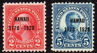 647-648 Hawaii overprint - read