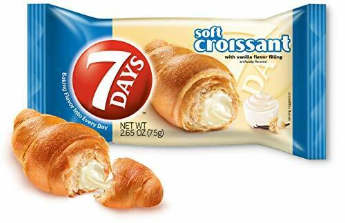 7Days Soft Croissant, Vanilla Filling (Pack of 6)