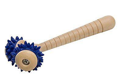 Massageroller Massagegerät Handroller Holz mit 2 Rollen