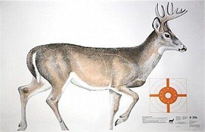 "Premium X-Ray Paper Shooting Targets Deer Hunting Rifle Brighter 25/""x25/"" 6Pack"