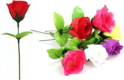 288 x KUNSTBLUMEN ROSEN 6 Farben Plastikblumen Blumen Dekoration ca. 16 cm NEU