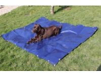 Tarpaulin Heavy Duty Blue And Beige For Pets 350gsm