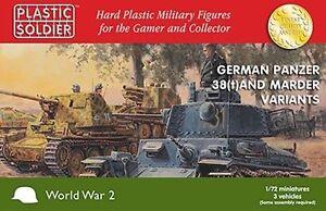 Plastico-Soldado-Company-1-72-WW2-Aleman-Panzer-38-T-amp-Marder-VARIANTES
