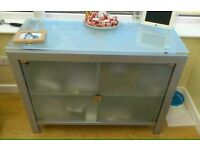 Silver and Frosted glass cabinet