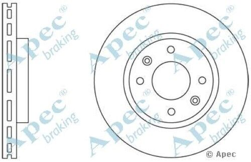1x OE Quality Replacement Front Axle Apec Vented Brake Disc 4 Stud 280mm Single