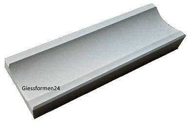 2 Schalungsformen Gips und Beton Gießformen für Bodenrinne Ablaufrinne 50 x16 cm