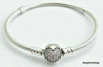 Silver Sparkle Hearts - NWT AUTHENTIC PANDORA SILVER BRACELET SPARKLING HEART #590743CZ MULTIPLE SIZES