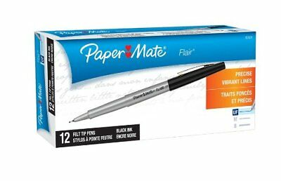 Paper Mate Flair Porous Point Pen - Ultra Fine Pen Point Type - Black 8330152