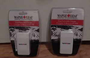 Maple Leaf Travel dual usb port wall chargers