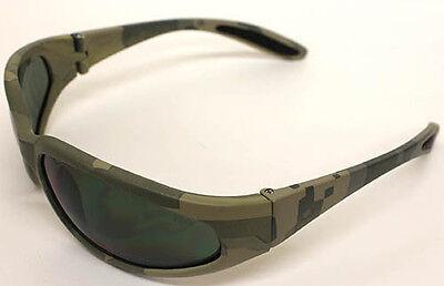 Mlitary Hunting Digital Camo Frame Green Lenses Shatterproof Lens Sunglasses