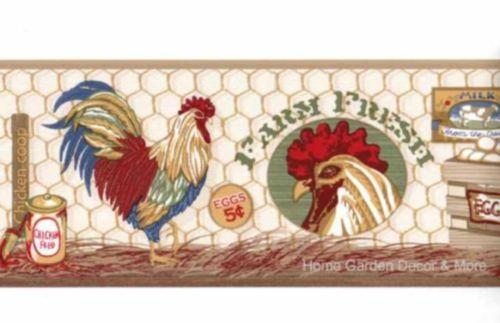Country kitchen wallpaper border ebay