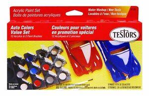 Testors Model Car Acrylic Paint Pot Set Engines Supplies Tools Kits Models Hobbi