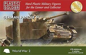 Plastico-Soldado-Company-Gerra-Mundial-2-Aleman-Panzer-IV-3-1-72-Escala