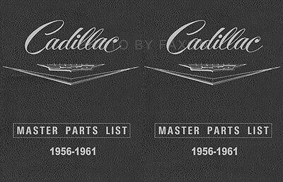 Cadillac Master Parts Book 1956 1957 1958 1959 1960 1961 Illustrated Catalog