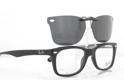 Custom Fit Polarized CLIP-ON Sunglasses For Ray-Ban 5228 55x17 RB5228 RAYBAN