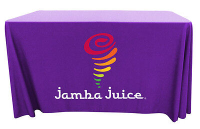 Trade Show Table Throw/Table Cover with Your Custom FULL COLOR Logo (Table Covers With Logo)