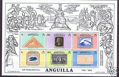 Anguilla 1979 Rowland Hill MS SG 364 MNH