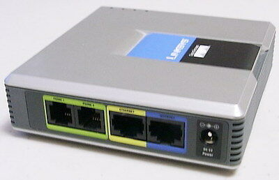 Unlocked Cisco / Linksys SPA2102 VoIP 2FXS Phone Adapter with -