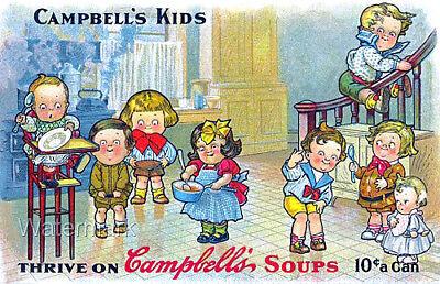 Campbells Soup Kids Ad Refrigerator Fridge Gift Magnet Free Ship World Wide