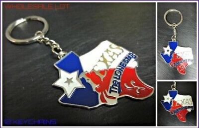 Großhandel-menge Texas The Lone Star Schlüsselring Schlüsselanhänger