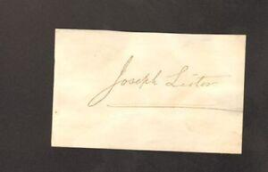 SIR-JOSEPH-LISTER-British-Surgeon-Pioneer-Autograph-Signed-Card-UACC-DEALER