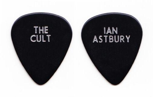 The Cult Ian Astbury Black Guitar Pick - 2010 US Tour