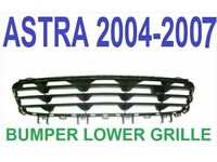 VAUXHALL ASTRA DESIGN MK5 04-10 FRONT BUMPER BOTTOM GRILL GRILLE 2007