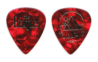 Cheap Trick Tom Petersson Beatles Heavy Red Pearl Guitar Pick - 2009 Tour