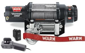 WARN Vantage 4000, 4,000lb Winch, ATV, UTV, Side X, Recovery Winch, 12v - 89040