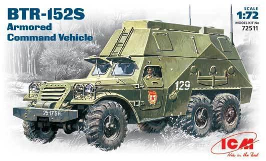ICM 1/72 BTR-152S Armoured Command Vehicle # 72511