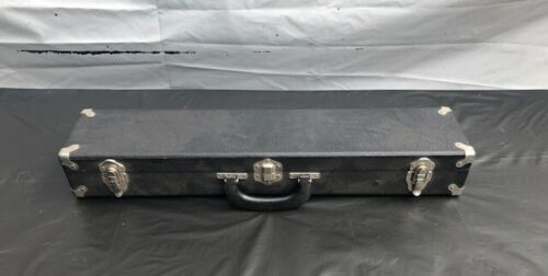 Unbranded Wood Clarinet Case with Plush Black Lined Interior