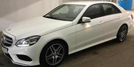 WHITE MERCEDES-BENZ E200 E220 CDI AMG LINE NIGHT PREMIUM SE FROM £94 PER WEEK!