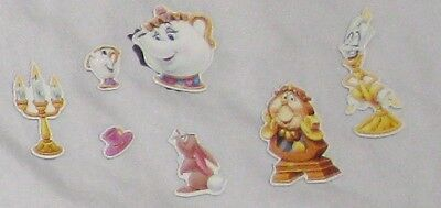 Beauty and the Beast Magnetic Figures - Refrigerator Magnets -  8 Pieces