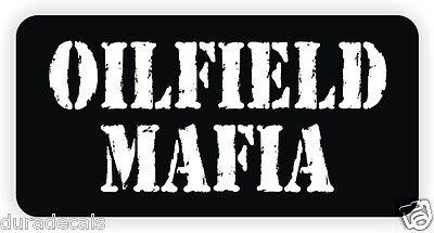 Oilfield Mafia Hard Hat Sticker Funny Decal Driller Label Motorcycle Helmet