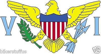 US VIRGIN ISLANDS FLAG BUMPER STICKER LAPTOP STICKER WHITE BACKGROUND