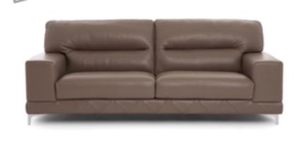 Brand new 3 seater Moda Italian leather lounge still in plastic