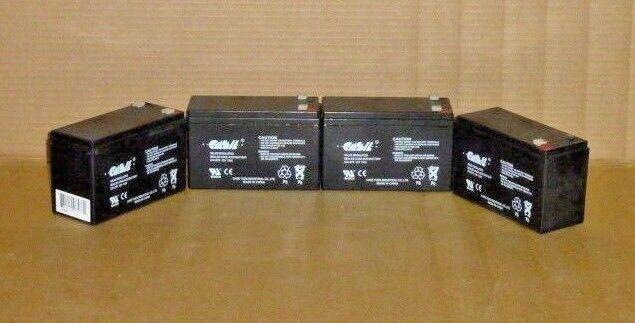 LOT of 4 BATTERIES Casil CA1270 12v 7ah SLA Sealed Rechargea