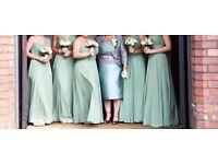 Kelsey rose bridesmaid dress in sage green