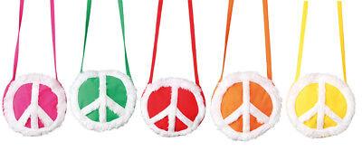 Orl - runde Handtasche Peace zum Hippie Kostüm Karneval (Runde Kostüme)