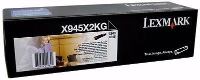 New ! GENUINE Lexmark X940 X945 Black High Yield Toner Cartridge X945X2KG