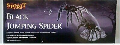 Giant Animated Jumping Spider Halloween Prop Outdoor Haunted Spirit Decor NIB