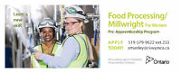 Pre-Apprenticeship Food Processing/Millwright for Women Program