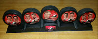 2002 Team Canada Olympic Hockey Puck Set with Stand