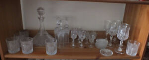 Crystal decanter and glasses