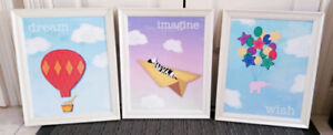 Set of 3 Children's Framed Prints