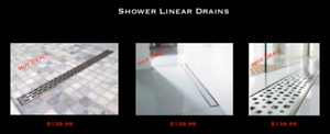 "24"", 30"", 36"", 43"", 47"", 55"", 59"" Stainless Steel Linear Drains!"