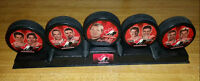 2002 McDonald's Team Canada Olympic Hockey Puck set with Stand